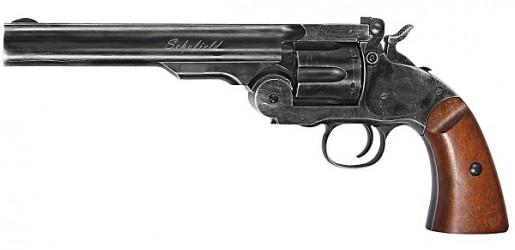 Пневматический револьвер ASG Schofield 6 Aging BK