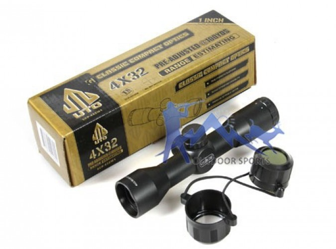 Оптический прицел Снайпер  4X32 Mini,  Mil-Dot с креплением
