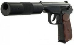 Пневматический пистолет МР 654К-22 с фальшглушителем