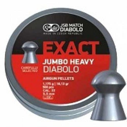 Пули пневматические JSB Exact Jumbo Heavy Diabolo 5,5 мм