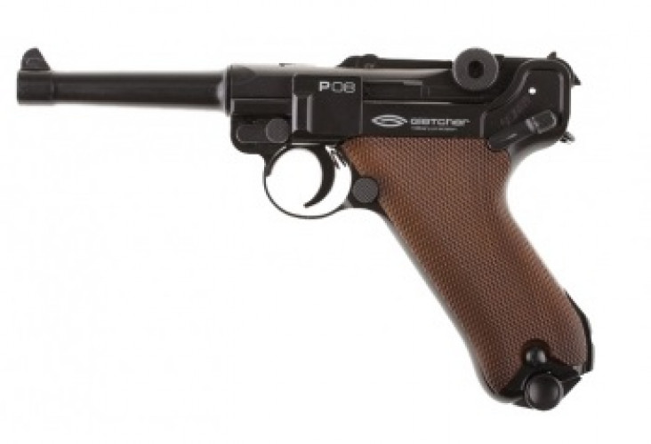 Пневматический пистолет Gletcher P 08(люгер)