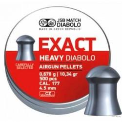 Пули пневматические EXACT Heavy Diabolo 4,5 мм 0,67