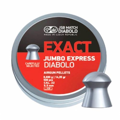Пули пневматические JSB Exact Jumbo Express 5,52 мм 0,930 г, 500 шт.