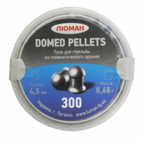 Пули пневматические Люман Domed pellets 4,5 мм 0,68 грамма (300 шт.)
