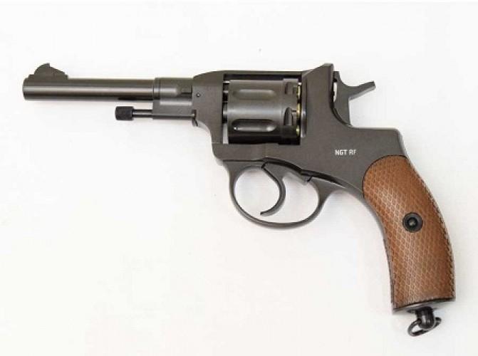 Пневматический револьвер Gletcher NGT R / RF Black, пулевой