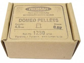 Пули  Люма Domed pellets 0,68 г 4,5 мн м (1250 шт.)