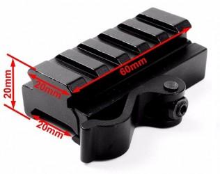 быстросъемное крепление адаптер 5 слотов Fit 20 мм Вивер