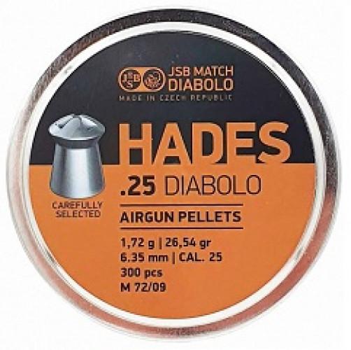 Пули пневматические JSB Diabolo HADES 6,35 мм 1,72 грамма (300 штук)