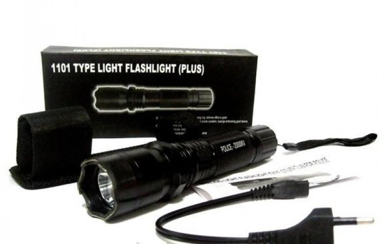 Электрошокер фонарь 1101 type light flashlight plus